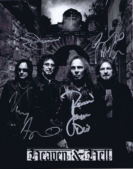 Black Sabbath / Heaven and Hell autographs 8×10 photo