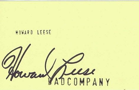 Howard Leese Autograph Bad Company - AutographSale UACCbad company Autographs for sale