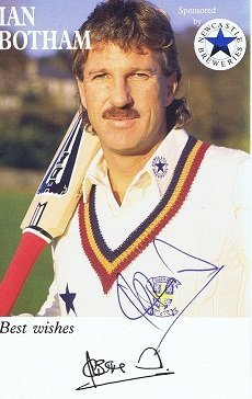 Ian Botham autograph cricket card