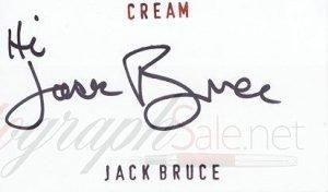 Jack Bruce of Cream autograph
