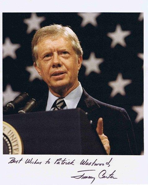Jimmy Carter Autograph photo US President
