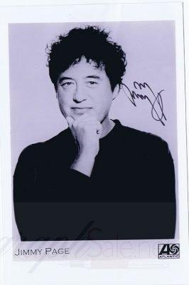 Jimmy Page Autograph promo photo Led Zeppelin jimmy page autographs for sale