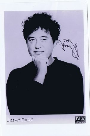 Jimmy Page Autograph promo photo Led Zeppelin jimmy page autographs for sale