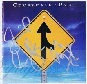 Jimmy Page and David Coverdale Autographed CD Cover