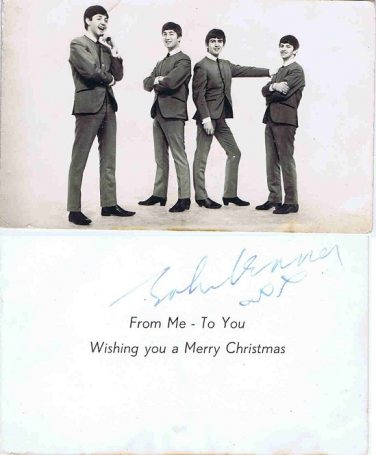 JOHN LENNON autographs for sale AUTOGRAPH CHRISTMAS CARD