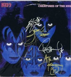 Kiss Creatures of the Night Autographed Lp - Gene Simmons, Paul Stanley, Eric Carr & Ace Frehley