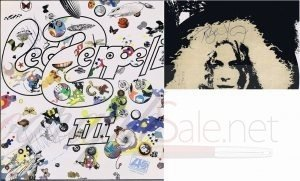 Led Zeppelin 3 autographs Lp autographs John Bonham Robert Plant John Paul Jones autographs for sale