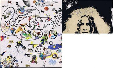Led Zeppelin 3 autographs Lp autographs John Bonham Robert Plant John Paul Jones autographs for sale