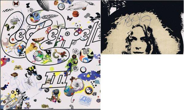 Led Zeppelin 3 Autographs Lp, Robert Plant, John Bonham and John Paul Jones