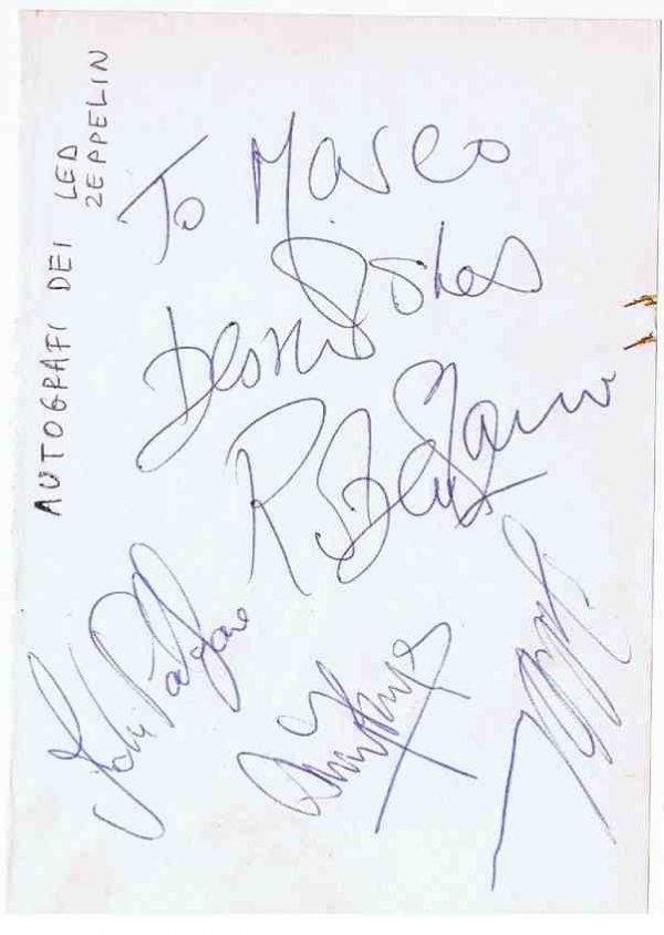 Led Zeppelin Autograph for sale | John Bonham