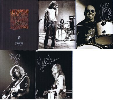 Led Zeppelin Autograph Ahmet Ertegun 2007 Programme. Jimmy Page, Robert Plant, John Paul Jones & Jason Bonham
