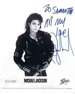 Michael Jackson Autographs