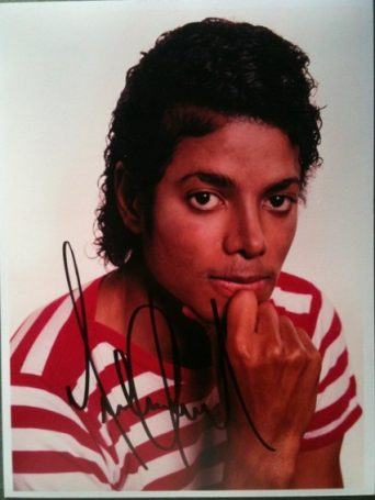 Michael Jackson Autographed 6x8 colour photo
