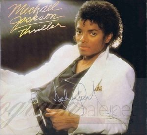 Michael Jackson Autographed Thriller Lp for sale