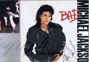 Michael Jackson Autograph BAD Lp