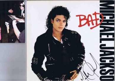 Michael Jackson Autographed BAD Lp