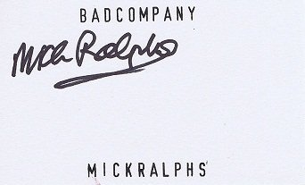 Mick Ralphs autograph Bad Company - Mott The Hoople