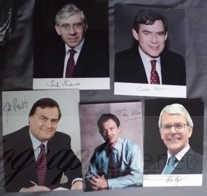 British Politics - Gordon Brown, John Prescott, Tony Blair Autographs Jack Straw