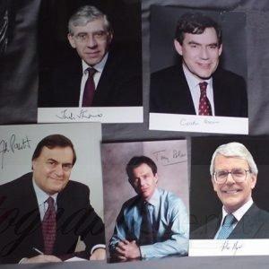 British Politics – Jack Straw, Gordon Brown, John Prescott, Tony Blair Autographs