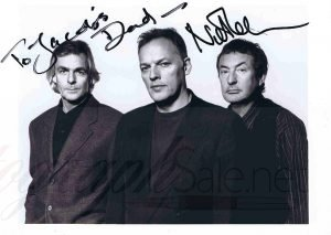 Nick Mason Autographed Pink Floyd photo