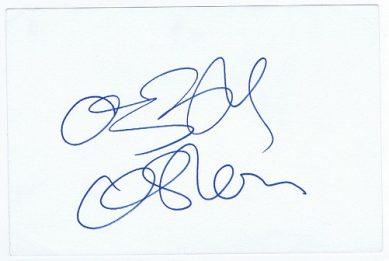 Ozzy Osbourne Black Sabbath Autographed Card