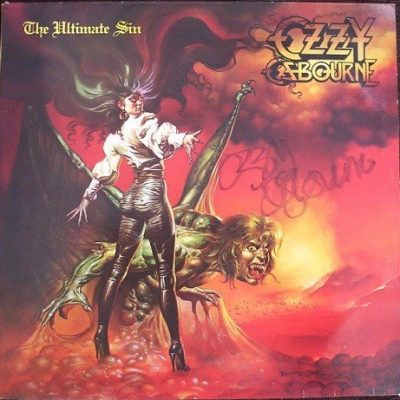 Ozzy Osbourne Autographed The Ultimate Sin Lp