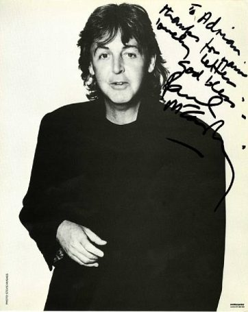 paul mccartney autograph photo autographs for sale