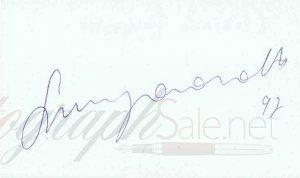 Luciano Pavarotti Autograph 92