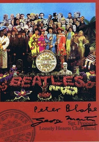 Peter Blake George Martin Signed Sgt Peppers Beatles