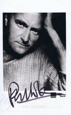 Phil Collins Autograph photo GENESIS