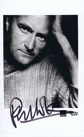 Phil Collins Autograph photo GENESIS
