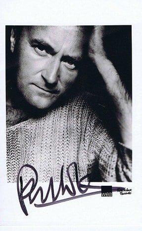 Phil Collins Autograph photo The Genesis