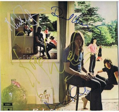 Pink Floyd Autograph UMMAGUMMA Lp David Gilmour, Roger Waters, Richard Wright and Nick Mason