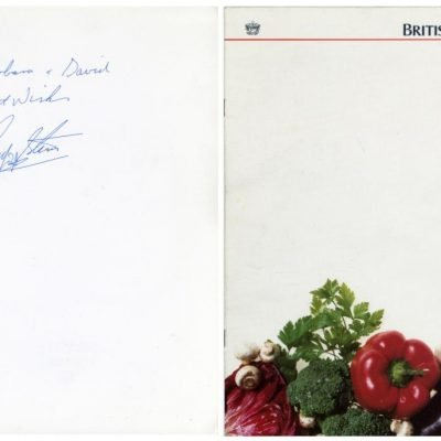 Ringo Starr Autographed British Airways Menu The Beatles