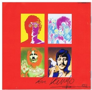 Ringo Starr autograph The Beatles One CD Cover