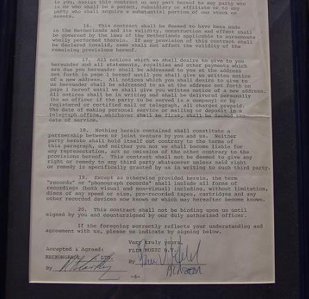 Ringo Starr The Beatles signed document using his real name R.Starkey