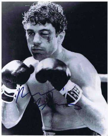Robert DeNiro Autograph Raging Bull photo autographs for sale