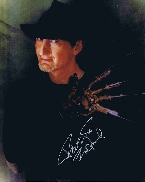 Robert Englund Autograph as Freddy Cruger
