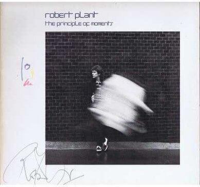 Robert Plant Signed The Principle Of Moments Lp autographs led zeppelin autographs for sale