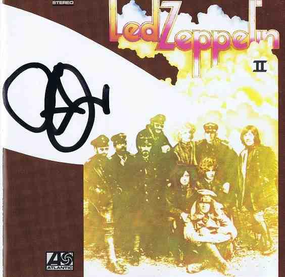Robert Plant autograph Led Zeppelin 2 CD cover