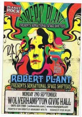 Robert Plant Led Zeppelin Autographed Flyer
