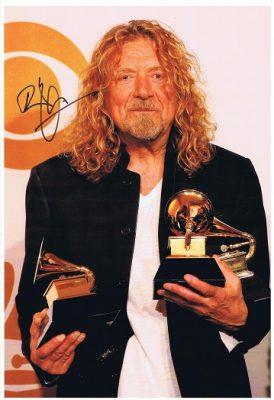 Robert Plant Autograph photo Led Zeppelin. Autographs for sale
