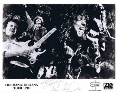 Robert Plant Autograph Led Zeppelin 1990 photo