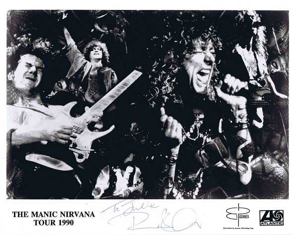 Robert Plant Autographed Led Zeppelin 1990 photo