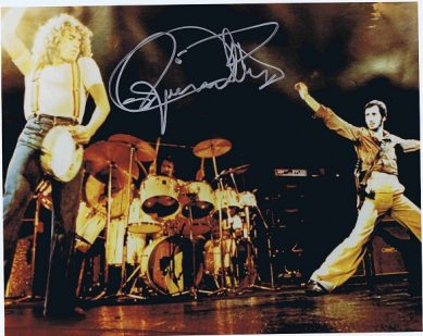 Roger Daltrey Autograph Photo The Who Live Autographs for sale