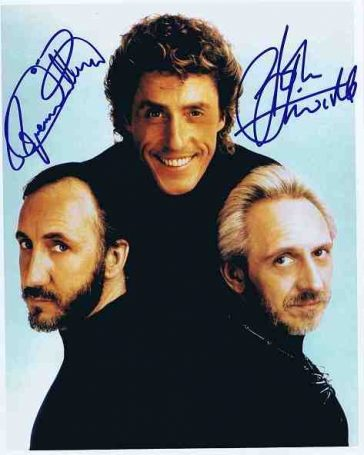 Roger Daltrey John Entwistle Autographed colour photo The Who