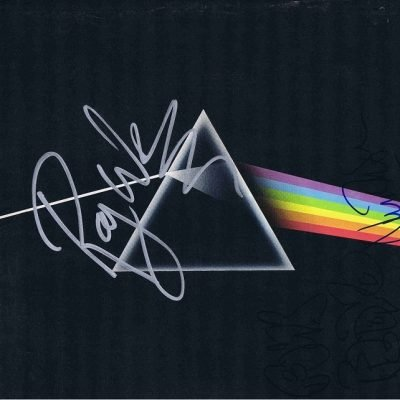 Pink Floyd Autograph Dark Side Of The Moon Lp Roger Waters Nick Mason