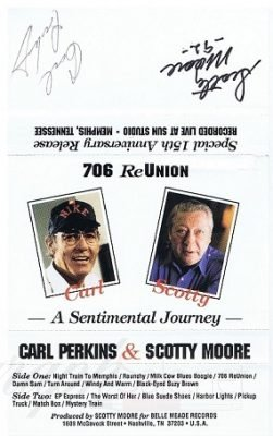 Scotty Moore Carl Perkins Autographs