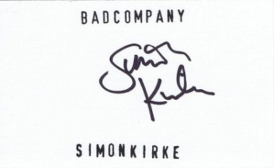 Simon Kirke autograph Bad Company Free