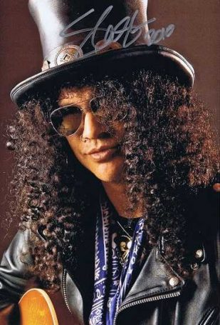 Slash Autographed photo 2010 Guns N Roses